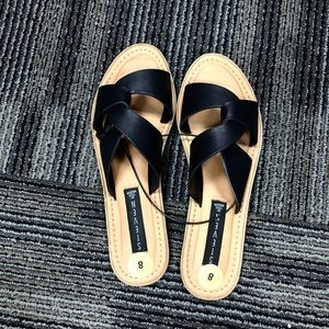 Steve by Steven Madden black sandals leather sz:8